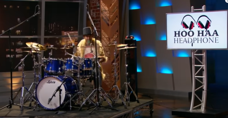 Capital M making a Drum Solo during his Shark Tank Pitch