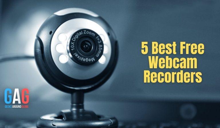 5 Best Free Webcam Recorders