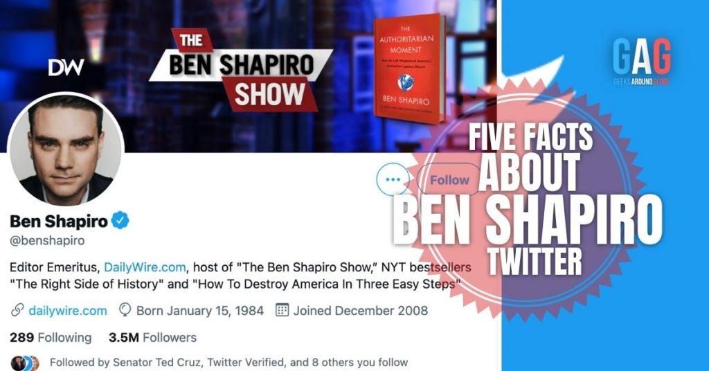 Ben Shapiro Twitter