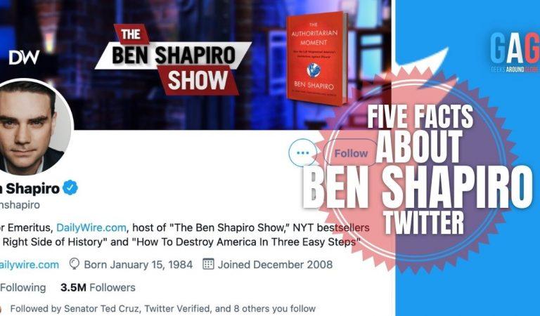 Five Facts About Ben Shapiro Twitter