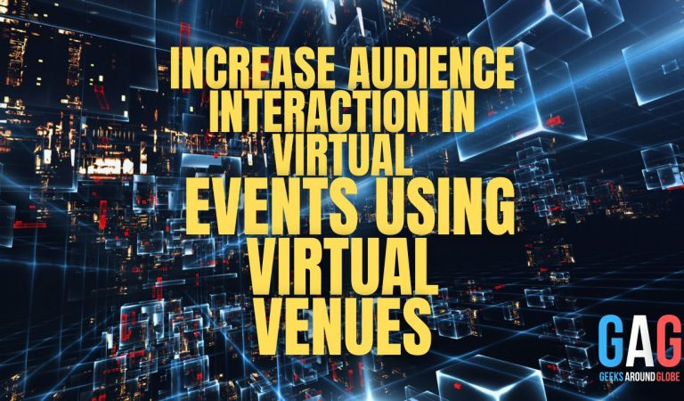 Increase audience interaction in virtual events using virtual venues