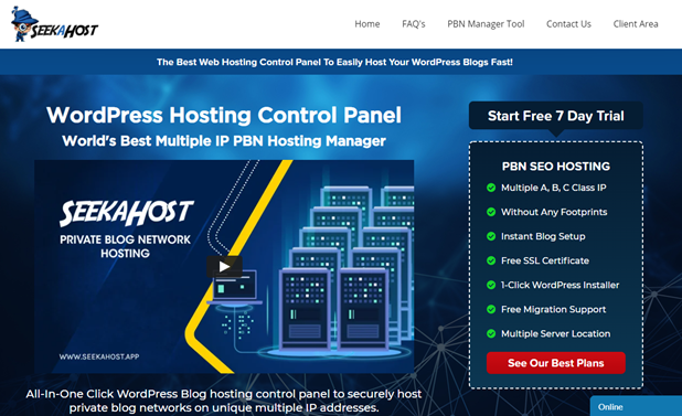 SeekaHost Hosting Control Panel Review: Is it good for Domain registration and Blog hosting?